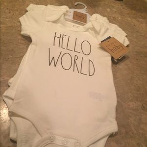 Other - NWT Rae Dunn Baby Set Of 3 Onesies 3/6 M